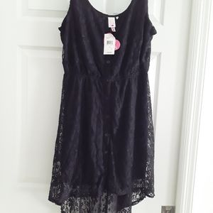 Heart soul black large dress
